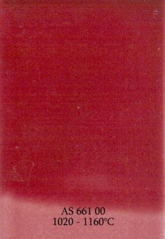 Szkliwo - AS 661 błyszczące - różowe ciemne