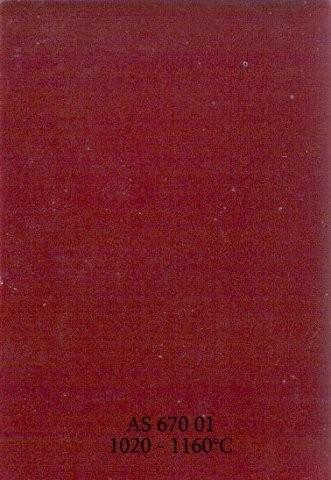 Szkliwo - AS 670 błyszczące - rubinowe