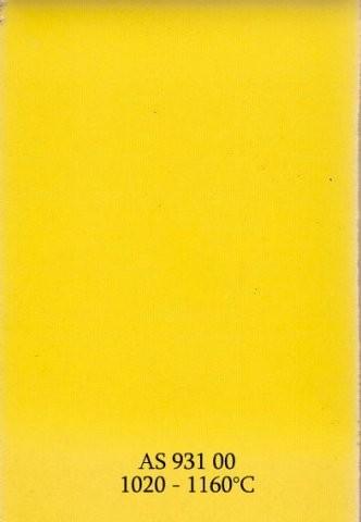 Szkliwo - AS 931 błyszczące - żółte żółtkowe