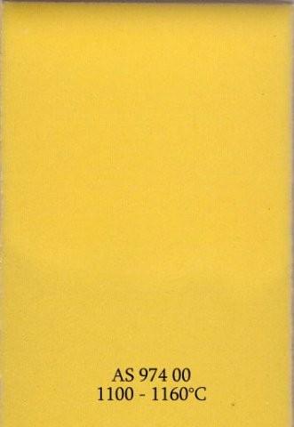 Szkliwo - AS 974 błyszczące - żółte słoneczne