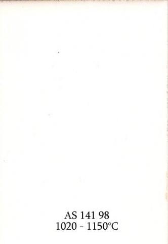 Szkliwo - AS 141 błyszczące - białe kryjące