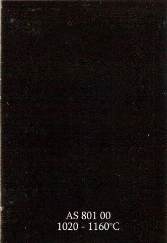 Szkliwo - AS 801 błyszczące - czarne