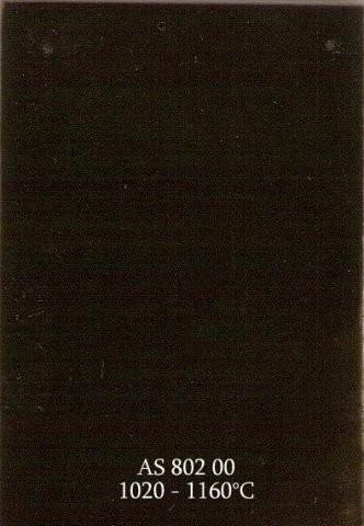 Szkliwo - AS 802 błyszczące - czarne