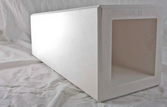forma gipsowa - wazon kwadratowy wysoki