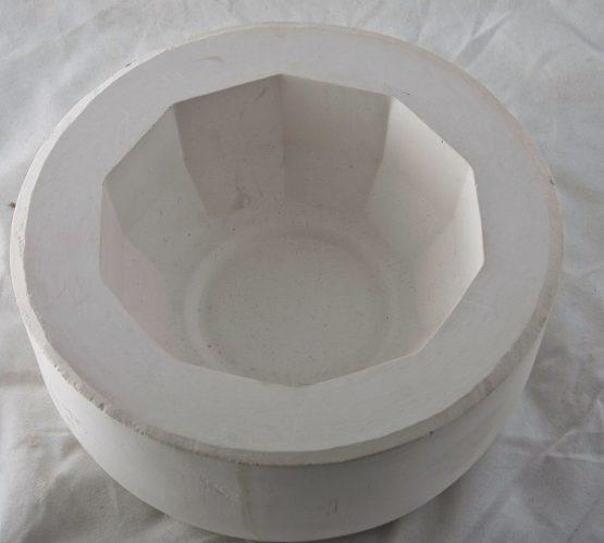 forma gipsowa - salaterka mała graniasta