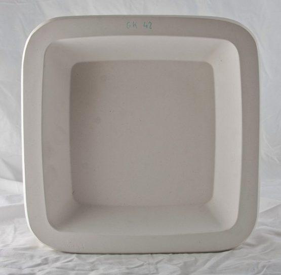 forma gipsowa - miska kwadr.średnia płytka