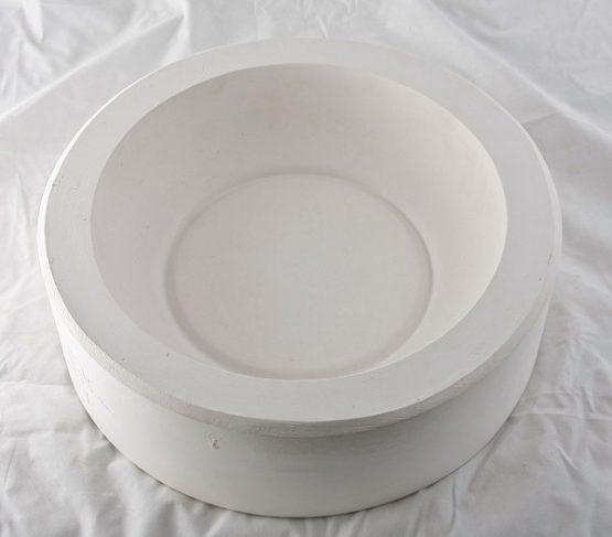 forma gipsowa - miska średnia płaska