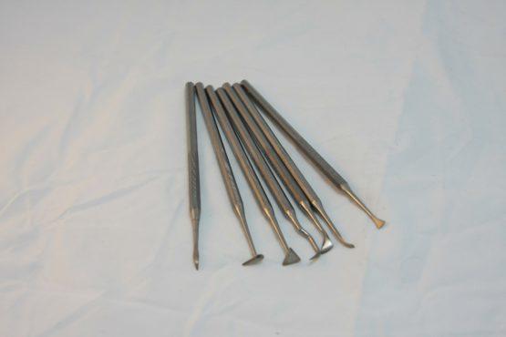 narzędzia metalowe kpl 7szt