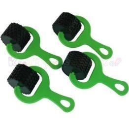 wałki gumowe do faktur zielone 4szt