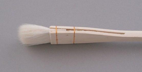pędzel płaski szyty z kozy 2,5cm