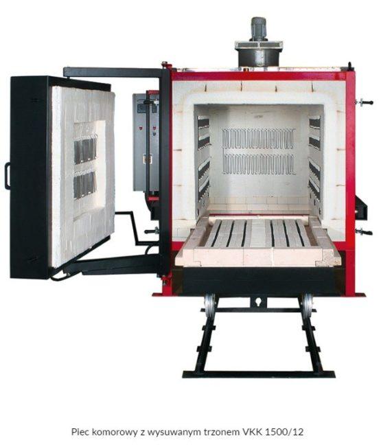 Piec z wysuwanym trzonem VKK do 1280 / 1340 °C