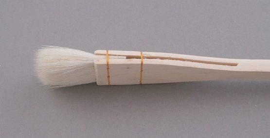 pędzel płaski szyty z kozy 6,3cm